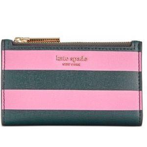 Kate spade Silvia stripe pink multi slim wallet